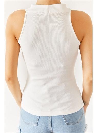 XHAN Siyah Karkorse Kolsuz Bluz 1Kxk2-44687-02 Beyaz